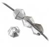 Fire polished Rondelle (Bicone) 4mm Crystal Labrador Strung